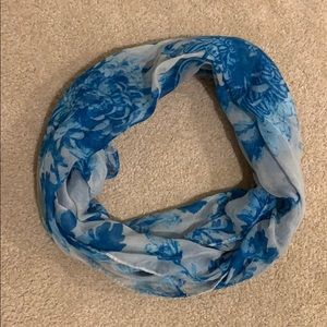 Charming Charlie Blue Floral Infinity Scarf